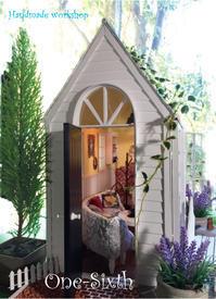 再び夏の季節、「1/6ウインドウハウス」summerversion - ドールハウス 手作り夢工房