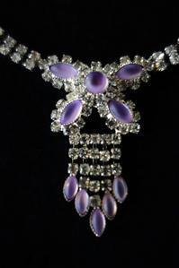 紫の石とラインストーンのネックレス11 - スペイン・バルセロナ・アンティーク gyu's shop
