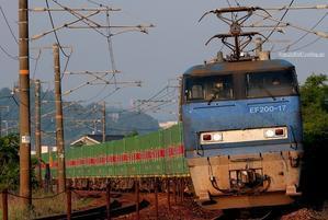 先週の56レはEF200&EF66 100番台。 - 山陽路を往く列車たち