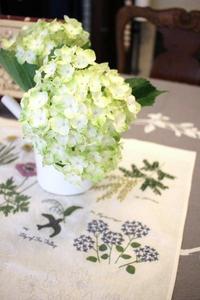 刺繍のガーデニング(樋口さんの紫陽花)バンブルビー楓猫 - バンクーバー日々是々