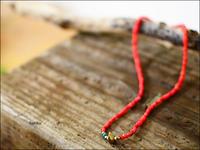 unku 39 [サンク] White Heart Beads Anklet&Necklace - refalt   ...   kamp temps