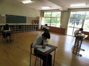 一学期中間考査開始 - 賀名生分校ブログ「青春日和」