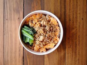 5/22(月)豆腐そぼろと炒り卵弁当 - おひとりさまの食卓plus
