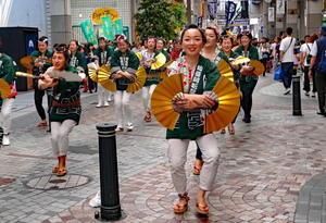 仙台市内青葉祭り 「スズメ踊りながし」中央通り - フォトハウス in 福島
