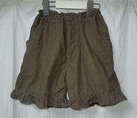 312.カーキショートパンツ - フリルの子供服