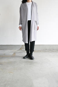 TANG  40/-Gauze Fleece Long Cardigan (Grege) - un.regard.moderne