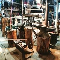 とあるお店の看板制作進行中 - Studio fu-mine Copper Works