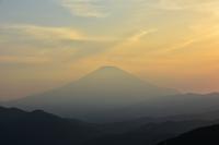 落日の富士 - 風とこだま