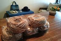 麻糸バスケット編み物レッスンのご報告@品川/新馬場うなぎのねどこさん - 空色テーブル  編み物レッスン&編み物カフェ
