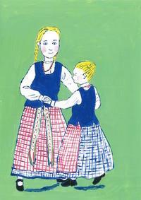 女子二人 - たなかきょおこ-旅する絵描きの絵日記/Kyoko Tanaka Illustrated Diary