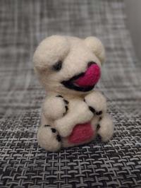 おすわりゴン太 - 羊毛フェルト男(羊毛フェルトマン)