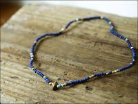 Sunku 39 [サンク] Indigo Dye Beads Anklet&Necklace - refalt   ...   kamp temps