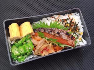 5/23 鮭弁当 - ひとりぼっちランチ