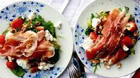 初夏のイチゴとパルマハムのサラダ - ロンドンの食卓