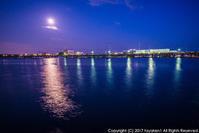 なぎさ公園 月の夜 - シセンのカナタ