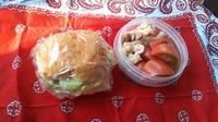 5/23(火)とりはむとチーズとレタスのサンドイッチとサラダ弁当 - ぬま食堂