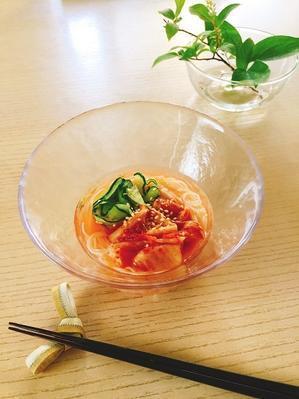 お家で韓国料理!暑い日にはシウォナダ~な麺料理 - 今日も食べようキムチっ子クラブ (我が家の韓国料理教室)