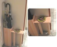Wood small table&umbrella stand - minca's sweet little things