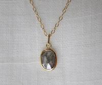 オーバルグレーダイヤモンドネックレス - hiroe  jewelryつくり