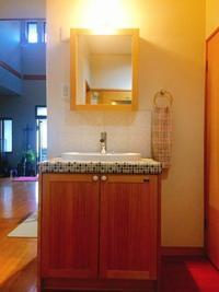 無垢の洗面台 - まるぜん住宅設備ブログ「いつも前むき」