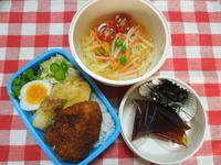 つけ麺&チキンカツ丼★(^^♪・・・・・息子の弁当 - 日だまりカフェ