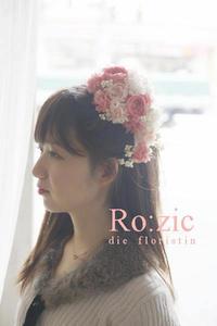 2017.5.24 花嫁さまと お花の帽子ヘッドドレス/プリザーブドフラワー - Ro:zic die  floristin