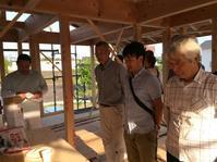 裾野市佐野自然素材で建てるそよ風の家上棟式の様子 - 家造りブログ