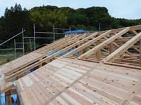 瀬戸内の家Ⅱ 上棟完了です。 - 木楽な家 現場レポート