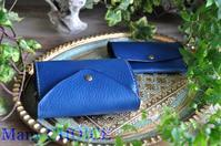 セミオーダー・イタリアンバケッタレザー・アリゾナ・2つ折りコインキャッチャー財布と名刺入れ - 時を刻む革小物 Many CHOICE~ 使い手と共に生きるタンニン鞣しの革