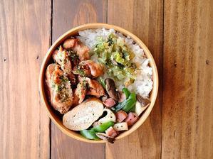 5/23(火)鶏むね肉のソース照り焼き弁当 - おひとりさまの食卓plus