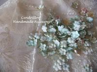 フランスの蚤の市で見つけたような色あせた勿忘草のガーランド♪ - 愛知 豊橋 布花アクセサリーCendrillon