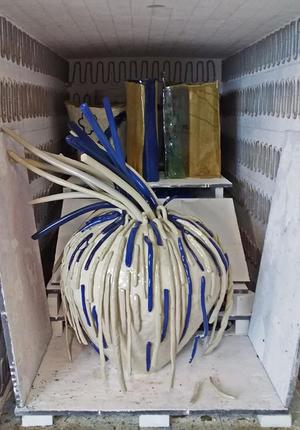 高校生の陶芸作品制作ー4ー - 風