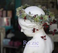 2017/5.26 蔓と実とかすみそうの花冠とリストレット/プリザーブドフラワー - Ro:zic die  floristin