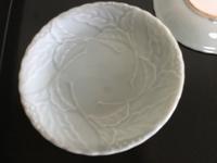 青磁 葉文様 皿 - 大正から昭和の器