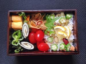 5/25 豆サラダごはん弁当 - ひとりぼっちランチ