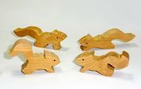 木工新作 フェレットとリス - 布と木と革FHMO-DESIGNS(えふえっちえむおーでざいんず)Favorite Hand Made Original Designs