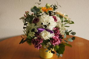 カーネーションで動物作成 - 癒しの花と土のぬくもり 花の店「佐用」の日記