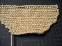 麻ひもバッグ編みはじめと紫陽花その後 - D-E