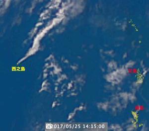今日(25日)も活発に噴煙を上げている西之島 - 哲のphoto box