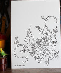 ステッチイデー掲載作品のデザイン画 - ビーズ・フェルト刺繍作家PieniSieniのブログ