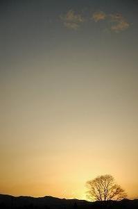 今日の夕暮れ 2017/04/09 17:55 - 空ヤ畑ノコトバカリ