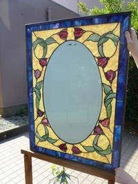 チューリップの鏡 - atelier GLADYS  ステンドグラス工房 作り手の日々