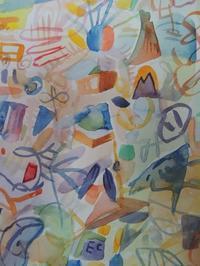 久しぶりにアナログ絵『水彩にペンにマーカー色鉛筆など』使って描いてます。 - シュールな絵画の抽象画の油絵奮闘記