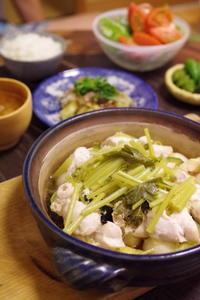 鶏ささみのにんにく塩麹漬けとかぶとズッキーニの土鍋オイル蒸し。 - おおぐらい通信