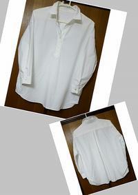 スキッパーシャツ(白) - manmaru ~手から生まれる物たち~
