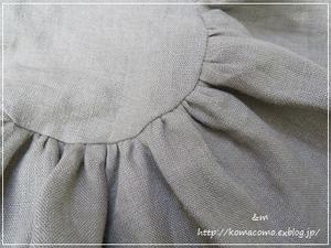 手作り 小さな丸底に合わせてギャザーをキューっと♪**~リネンの小さな丸底の大きなバッグ~ - &m 手作りのキロク。。
