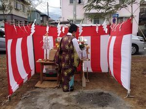 南林間の木の家(太陽熱利用のエコハウス)の地鎮祭 - 建築家とつくる木の家 光設計の「呼吸する住まい」