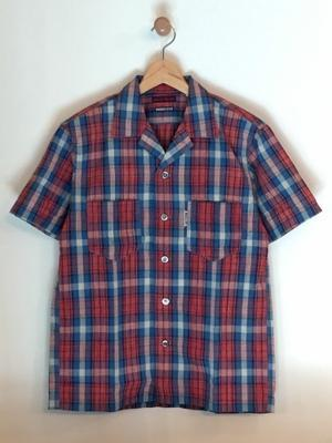 BLUE BLUE / インディゴチェック オープンカラー ショートスリーブシャツ - Safari ブログ