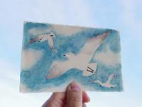 水干絵具を初めて使ってみた。とても色鮮やかだった - 手製本クリエイター&切絵コラージュ作家 yukai の暮らしを愉しむヒント