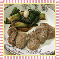 まぐろカルビの塩胡椒グリルと、葉玉ねぎの甘辛醤油炒め - kajuの■今日のお料理・簡単レシピ■